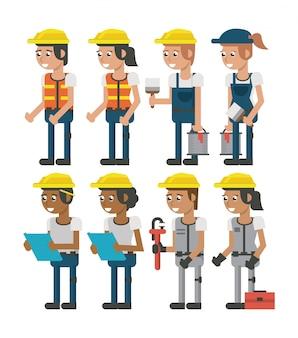 建設労働者のセット