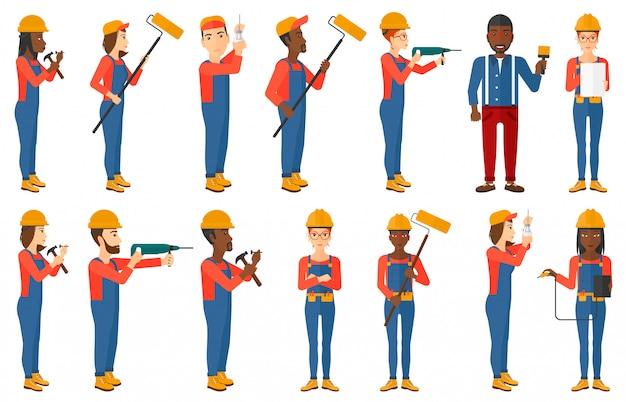 Набор конструкторов и строителей персонажей