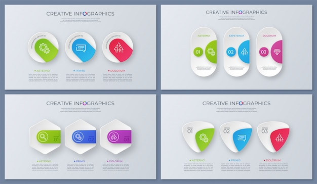 Набор современных векторных инфографики конструкций, шаблонов, диаграмм