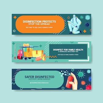 Набор баннеров безопасности коронавирус