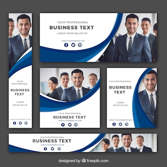 Set of corporate banners