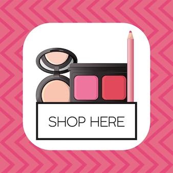 化粧品化粧正方形フレームのセット