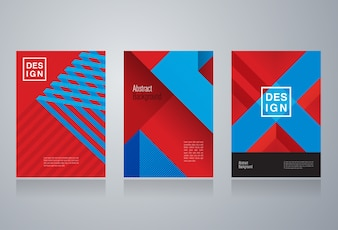 Set of cover design with abstract background