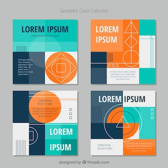 Set of covers with geometric shapes