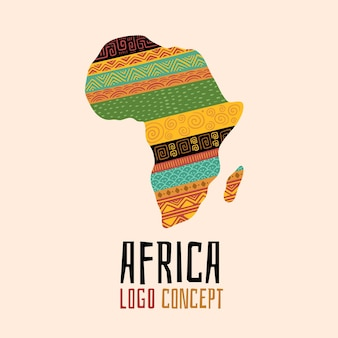 Набор креативных шаблонов логотипа африки