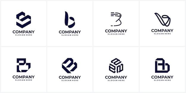 創造的な会社のロゴデザインのセット