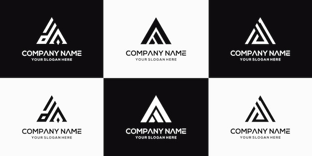 創造的な手紙daロゴデザインテンプレートのセット