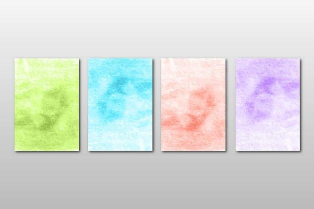 추상 수채화 디자인으로 창조적 인 미니멀 한 손으로 그린 청첩장 세트
