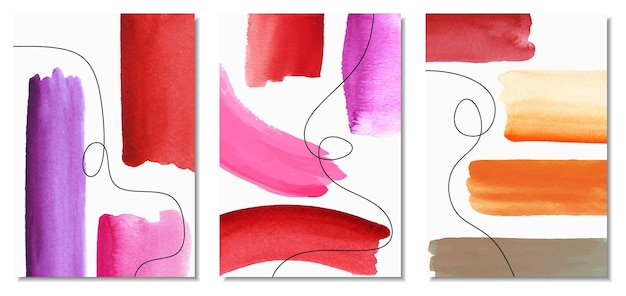 Набор творческой минималистской ручной росписи.