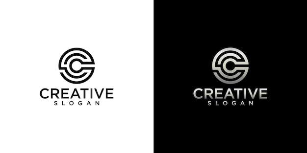 クリエイティブなモノグラムcロゴデザインのセット