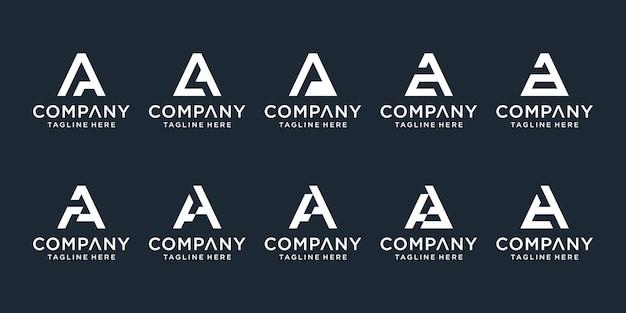創造的なモノグラムの頭文字のロゴテンプレートのセット