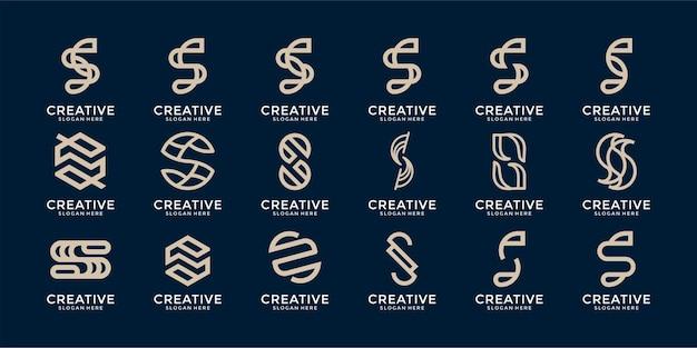創造的なモノグラム文字のロゴテンプレートのセット