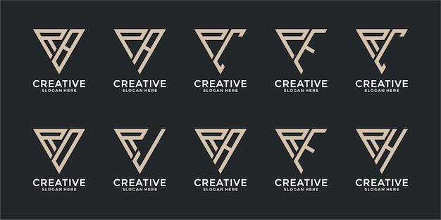 창의적인 모노그램 로고 디자인 서식 파일의 설정