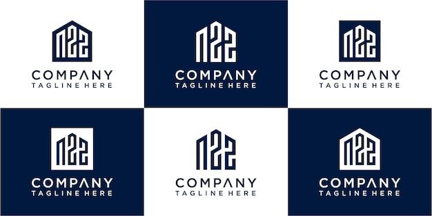 Набор креативного дизайна логотипа вензеля