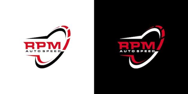 창의적인 rpm 로고 디자인 세트