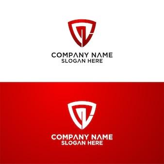 Набор креативных шаблонов дизайна логотипа sheild letter премиум векторы