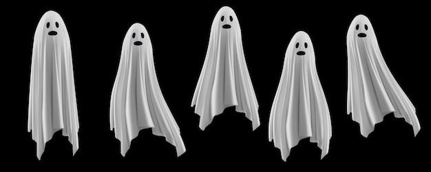 Набор жутких призраков иллюстрации