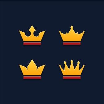 王冠のアイコンのセット