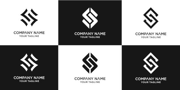 創造的な手紙のロゴデザインテンプレートのセット