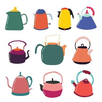 Набор заварных кухонных чайников