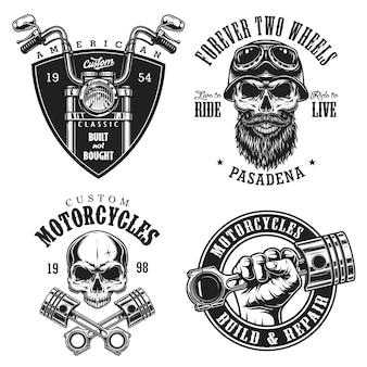 Набор пользовательских эмблем мотоцикла