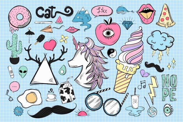 Набор милых и классных иконок