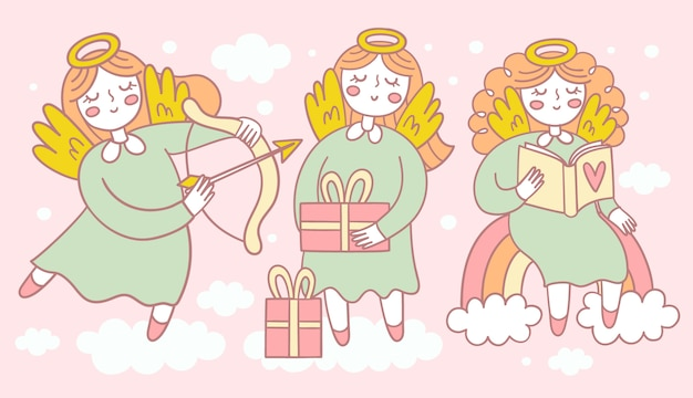 Набор милых ангелов