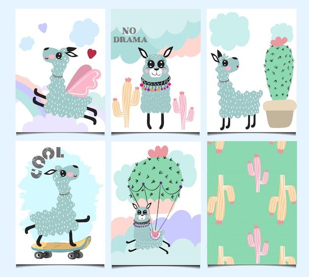 Набор милых поздравительных открыток.