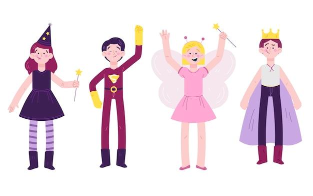 Набор милых мультяшных детей карнавала
