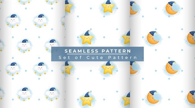 귀여운 클래식 꿈 완벽 한 패턴의 집합