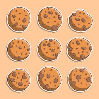 かわいいクッキーイラストのセット