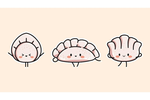 귀여운 만두의 집합입니다.