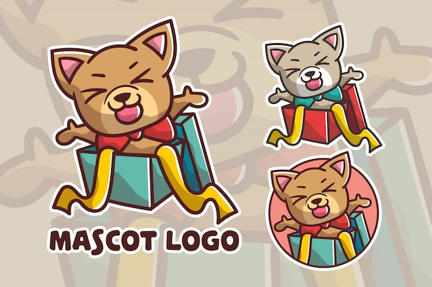 Набор милый подарок собака талисман логотип