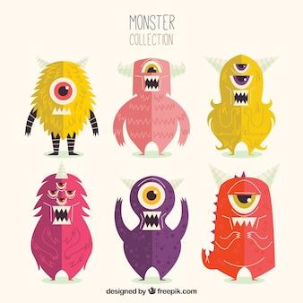 Набор символов симпатичного монстра