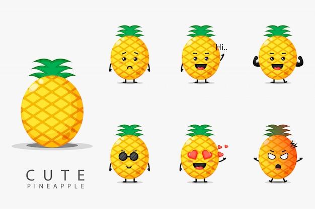 かわいいパイナップルのセット
