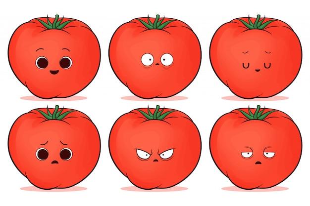 Набор милый красный помидор