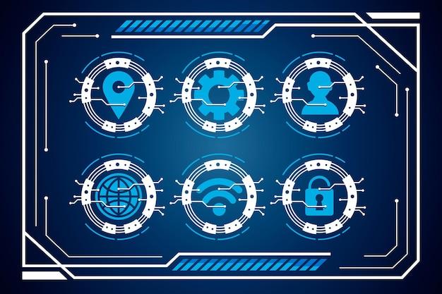 サイバーセキュリティ要素とハブインターフェースのセット