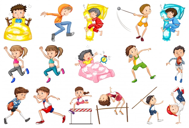 Набор ежедневной активности детей