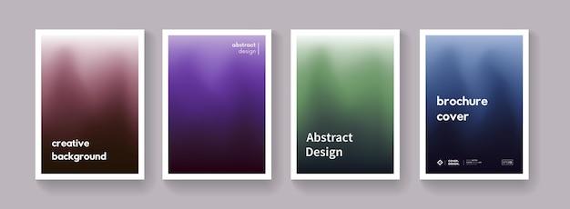 어두운 그라데이션 색상 배경 세트입니다. 최소한의 추상 포스터입니다. 수집. 브로셔, 배너, 현수막, 표지, flayer에 대한 현대 벡터 템플릿.