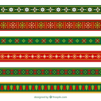 Set of decorative christmas borders