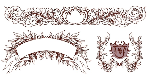 装飾的な要素のセット