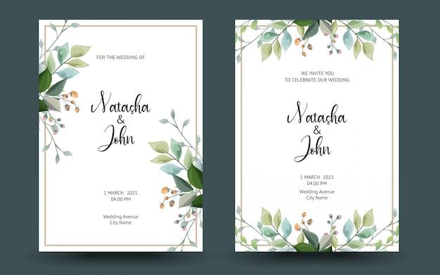 装飾的なグリーティングカードまたは花の招待状のセット