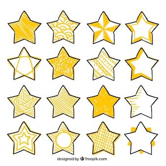 Set of decorative stars