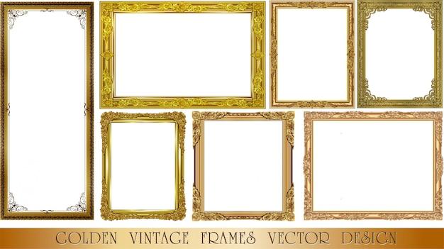 装飾的なビンテージフレームセットのセット
