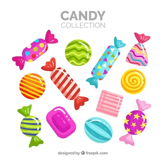 Set of delicious candies