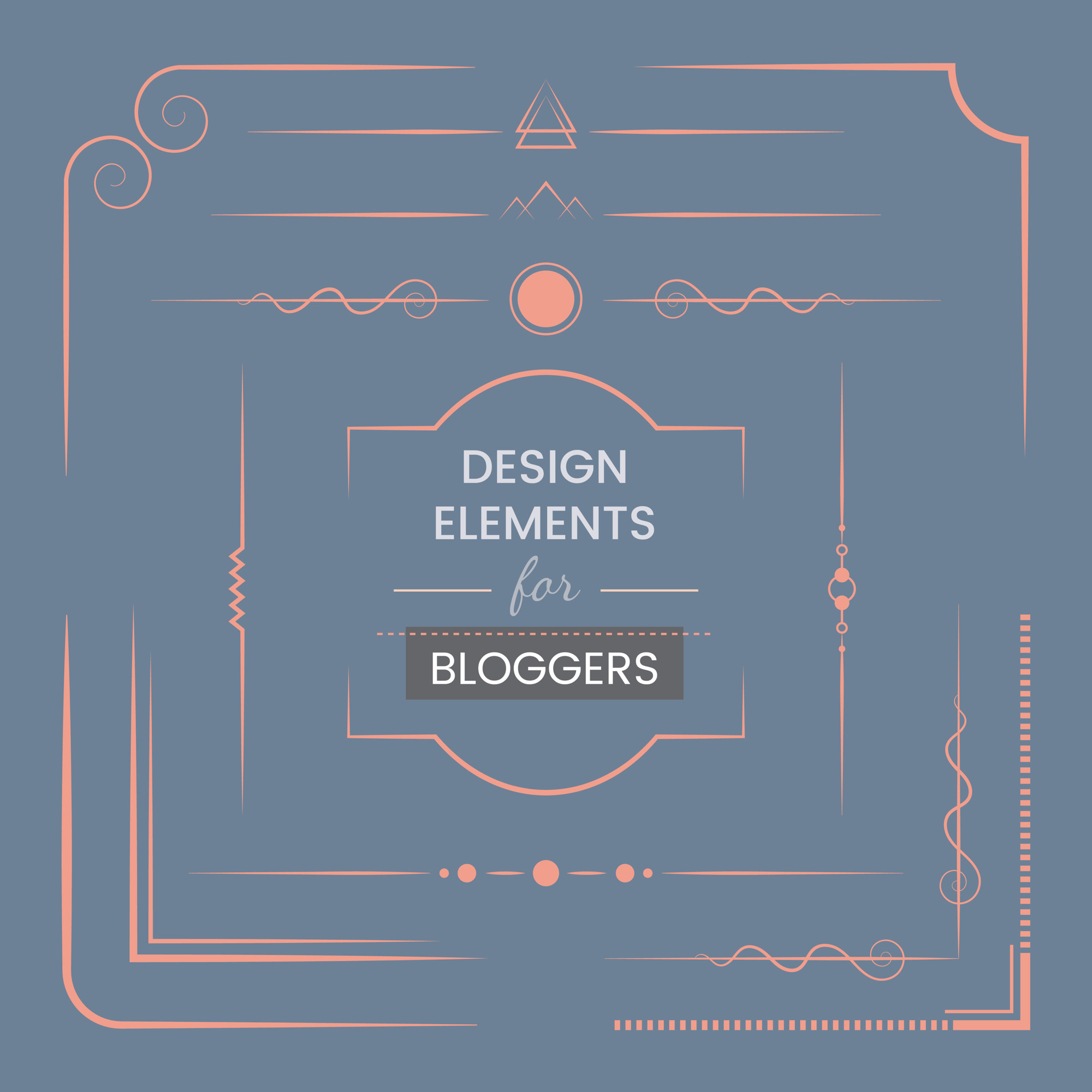 Set of design elements for bloggers vector