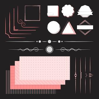 Набор элементов дизайна вектора