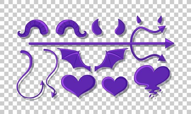 悪魔オブジェクトの装飾のセット