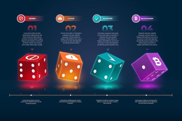 Набор кубиков инфографики