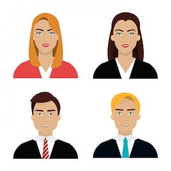 Набор разных аватаров